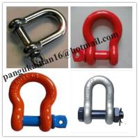 China Screw Pin Bow Shackle& D- Shackle,Standard D Shackle&forged Shackle wholesale