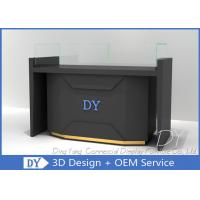 China Matte Black Store Jewelry Display Cases / Jewellery Counter Display wholesale