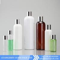 China plastic shampoo bottle, cosmo round PET bottle with golden cap, shampoo bottles wholesale wholesale