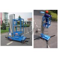 China Aluminium Alloy Hydraulic Single Mast Lift Platforms 6m Platform Height wholesale