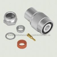 China Coaxial RF Connector with TNC M S/T Plug Clamp for RG-141/303/LMR-195 wholesale