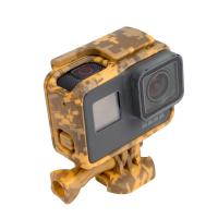 China Standard Protective Camouflage Yellow Action Camera Housing Frame Case For GoPro Hero 5 wholesale