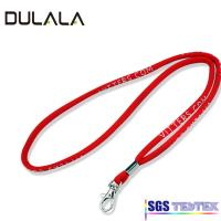 China Chinese supplier Custom cheap Red Thin Round Lanyard/Round Cord Lanyard/Wove Round Lanyard wholesale
