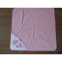 China cotton baby towels,pink hooded towel,terry baby bath towel on sale