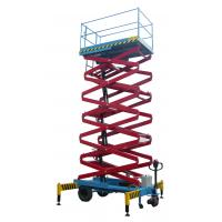 China 14 meters height mobile hydraulic scissor lift with motorized device loading capacity at 450Kg on sale