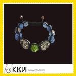 OEM Exquisite Design CZ rhinestone beads Shamballa Crystal Bangle Bracelets