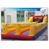 China Outdoor Kids Match Inflatable Sports Games , Inflatable Bungee Run with Two Lines wholesale