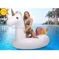 Buy cheap New Color Inflatable Giant Unicorn Pool Water Float 270cm PVC Rainbow Unicorn Pool Toys product
