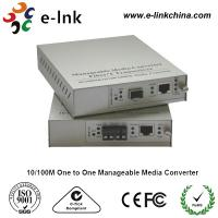 China E-link 10 / 100M One to One Manageable Fast Ethernet Media Converter with Internal Power Supply wholesale