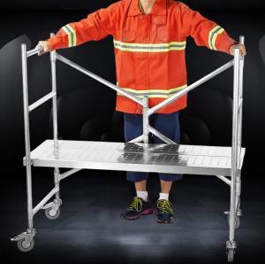 Buy cheap Aluminum Mini Type Foldaway Rolling Mini-Scaffold Ladder Platform from wholesalers