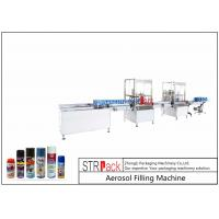 China High Performance Aerosol Filling Machine , Aerosol Paint Can Filling Machine  wholesale