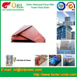 China Vacuum Boiler Water Wall Panels / Water Tube Boiler Parts High Efficiency wholesale