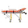 China Aluminum Alloy Adjustable Wheeled Automatic Loading Stretcher With 65° Back Angle wholesale
