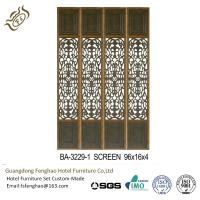 China Soild Wood Decorative Folding Screens Unique Carving Hollow Out Screen wholesale