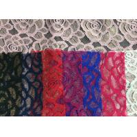 Quality Water soluable golden Embroidered Rose guipure Lace Fabric Textile Design 90% for sale
