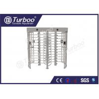 China 304 stainless steel dual lane full body turnstile gate with 120 degree revolving wholesale