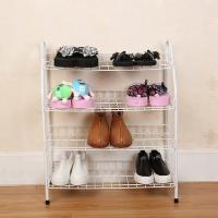 China H270 Durable Steel Metal Mesh Shoe Rack Quick And Easy Assembly White Color wholesale