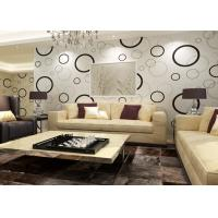 Geometric Non - woven Modern Removable Wallpaper with Black and White Circles