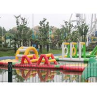 China Red Color Portable Inflatable Water Parks / 20m Floating Water Amusement Equipment wholesale