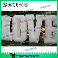 China Customized Party Nylon Cloth Red Inflatable Decoration / Inflatable Letters wholesale