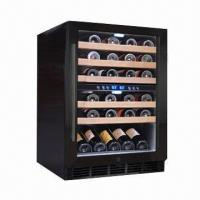 China 45-bottle Capacity Dual Zone Wine Refrigerator, Built-in Blue LED Light, 120L/4.24cuft Volume wholesale