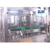 China Automatic Glass bottle Rinsing Filling Capping machine for juice with metal cap wholesale