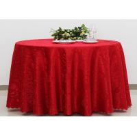 China Polyester Jacquard Plain Linen Table Cloths For Wedding Party Oilproof Fire Retardant wholesale