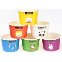 Eco Friendly Custom Branded Ice Cream Cups Disposable With Spoons And Lids