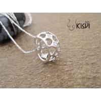 China 100% 925 sterling silver plated with rhodium silver gemstone pendant with zircon W-VB982 wholesale