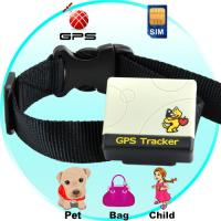 China Pet animal dog cat GPS Tracker with collar W/ web tracking on Google Map on mobile phone wholesale