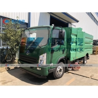 China Shacman 6CBM Water Sprinkler Dust Suction Road Sweeper Truck wholesale