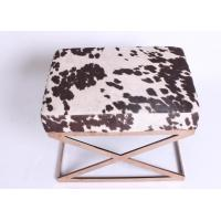 China Rose Golden Bedroom Upholstered Storage Bench Seats Comfortable Indoor Furniture wholesale