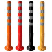 Quality Factory Direct TPU Flexible Highway Warning Bollard 450mm 750mm 1000mm Rebound Body UV & Impact Resistance for sale