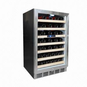 China 52-bottle Single Zone Compressor/Wine Cooler/Chiller/Fridge, CE/ETL/UL/RoHS wholesale