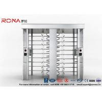 China Automatic Security Full Height Turnstile Double Lane With Impact Resistance With 304# Stainless Steel wholesale
