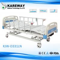 China Plastic Cranks Motorised Hospital Bed 1.2mm Thickness 3 Functions Hospital Furniture wholesale