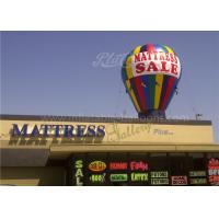 China Roof Decoration Rainbow Helium Ground Balloons Inflatable With Banner Printing wholesale