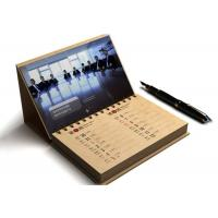 Quality Card Paper Promotional Calendar Printing , Desktop Calendar Printing OEM for sale
