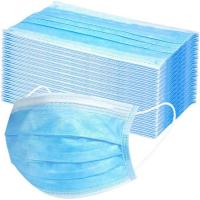 China Blue Hospital Face Masks Machine Made Doctor Use High Bacterial Particle Filtration wholesale