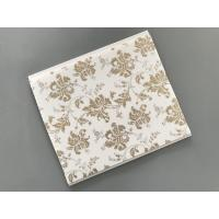 China 10 Inch Gold Leaf Ceiling PVC Panels Easy to Connect For Wall and Ceiling wholesale