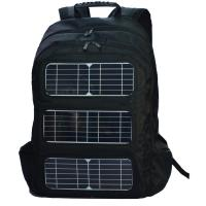 China Black Shoulder Strap Solar Charging Backpack For Outdoor Travel wholesale