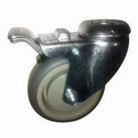 China Medical caster with total lock, tail end of caster, housing made of pressed steel  wholesale