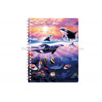 Quality Sexy Girl Design Notebook 3D Lenticular Printing Service Journals PET / PP / PVC Lentiuclar for sale