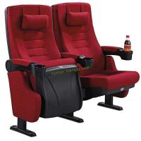 China Fabric Reclined Cinema Theater Chairs With Pillow Tip Up By Gravity / Spring / Damper wholesale