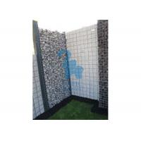 China Silver Color Steel Gabion Baskets Garden Design Rock Fence Cages Anti - Rust wholesale