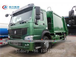 China Sinotruk Howo 4X2 300HP Garbage Compactor Truck wholesale