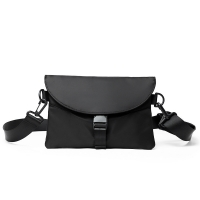 Buy cheap Nylon messenger bags, black shoulder with wide straps crossbody bag from wholesalers