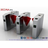 China Indoor / Outdoor Flap Waist Height Turnstile Flap Barrier Gate High Speed Using In China Bank wholesale