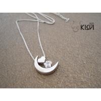 China 2012 latest design popular and noble silver gemstone pendant W-ZB002 wholesale