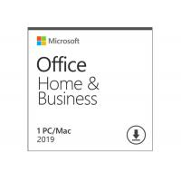 China Microsoft Office Home And Business 2019 Activation Card 1 Person Compatible Apple Mac OS wholesale